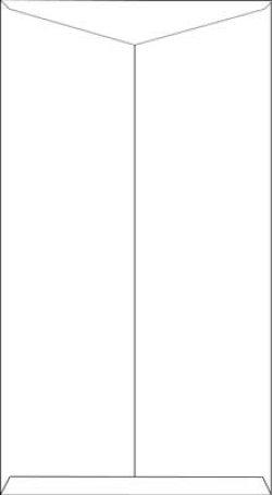 画像2: 白奉書紙(和紙)長4封筒 フタ折