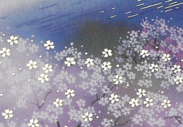 箔押し加工の和カード 雪187 「NET Asahi」