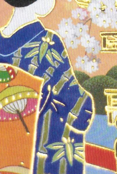 箔押し加工の和カード 桃178 「NET Asahi」