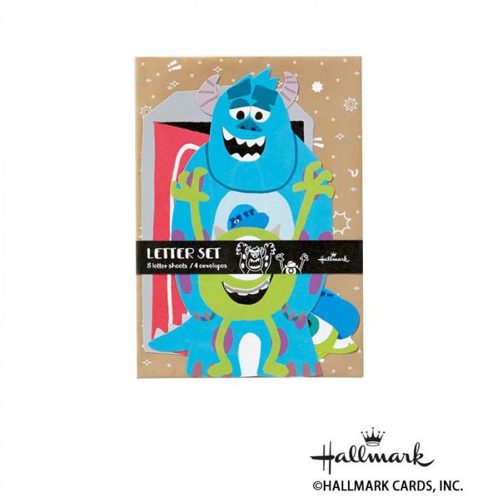 Hallmark ホールマーク ディズニー 便箋封筒セット カットモンスターズ・ユニバーシティ 6セット 756178「NET Asahi」