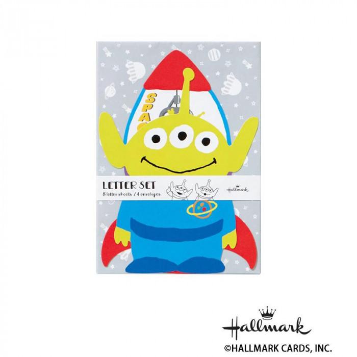 Hallmark ホールマーク ディズニー 便箋封筒セット カットエイリアン 6セット 756161「NET Asahi」